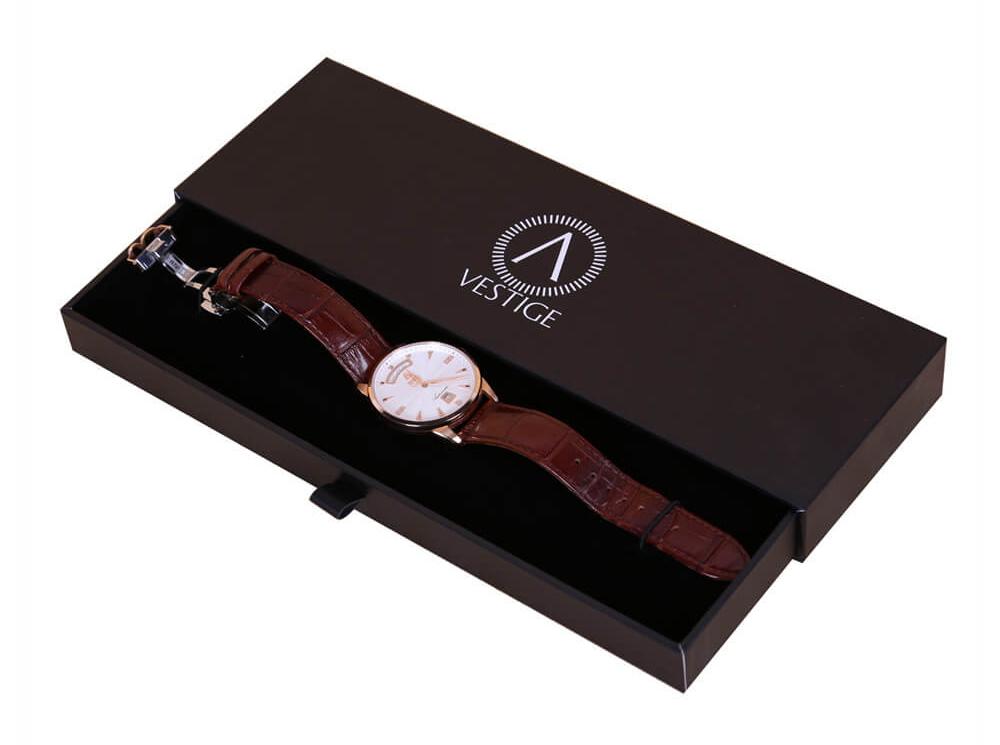 thin drawer watch box